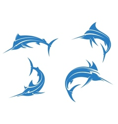 Big blue marlins vector image