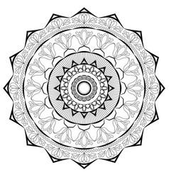 black lace mandala on a white background vector image