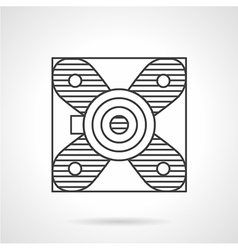 Block bearing flat line icon vector image