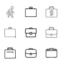 brief icons vector image