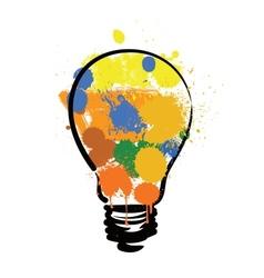 Bulb with paint vector