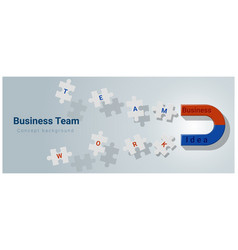 Business team concept background vector