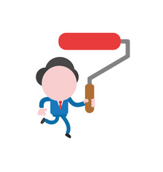 businessman character running and holding red vector image