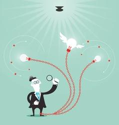 Businessman create idea vector