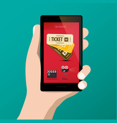 buying cinema - movie tickets online on vector image