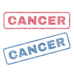 cancer textile stamps vector image