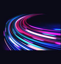 Car motion trails speed light streaks vector