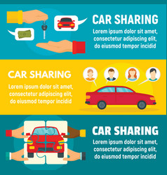 car sharing banner set flat style vector image