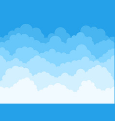 Cartoon sky clouds background fluffy clouds vector