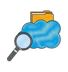 cloud computing storage folder file searching vector image