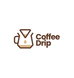 coffee paper filter dripper logo icon vector image
