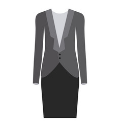 Colorful silhouette with female formal suit vector