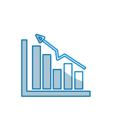 Contour business statistic data growing diagram vector