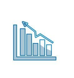 Contour business statistic data growing diagram vector