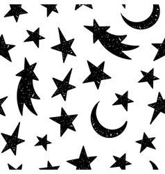 Cosmic seamless grunge pattern vector image