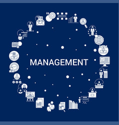 Creative management icon background vector