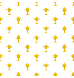 cup award pattern seamless vector image