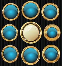 Empty luxury golden labels collection 3 vector