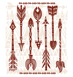 ethnic tribal arrows vector image