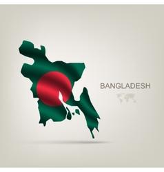 Flag bangladesh as a country vector
