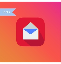 flat design envelope icon element vector image