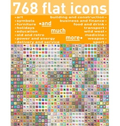 Flat icons 19 vector