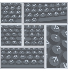 Flat modern keyboard alphabet buttons vector