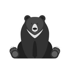 Flat style of black bear vector