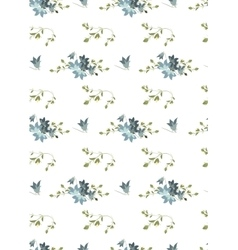 Floral harebell retro vintage background vector image