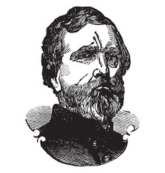 General george henry thomas vintage vector