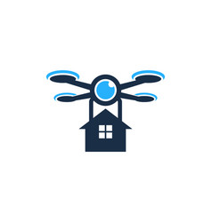 house drone logo icon design vector image