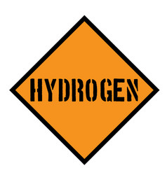 Hydrogen sign on white vector