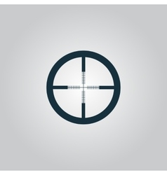 icon of crosshair vector image