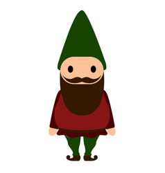 isolated gnome icon vector image