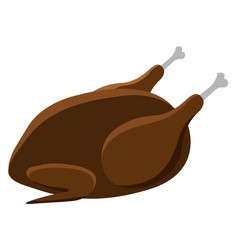 isolated roasted turkey thanksgiving day vector image