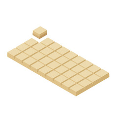isometric chocolate bar and piece vector image