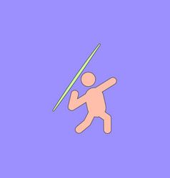 Javelin throwing athlete man vector