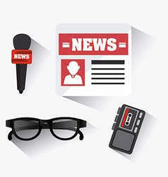 Journalism design vector image