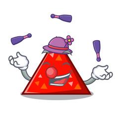 Juggling triangel mascot cartoon style vector