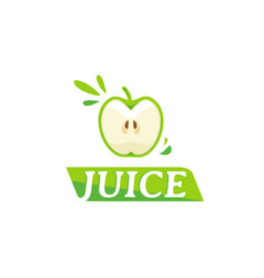 Juice logo with apple symbol vector