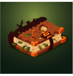 magic forest book cartoon style game design vector image