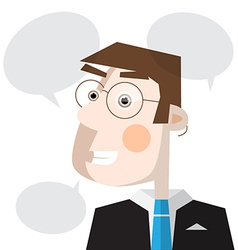 Man with Speech Bubbles vector image