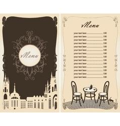 menu old town vector image