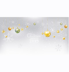 merry christmas and new year 2019 on white snow vector image