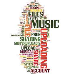 Mister upload your free musical upload service vector