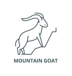 Mountain goat line icon linear concept vector