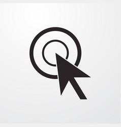 Mouse click cursor sign icon click cursor vector