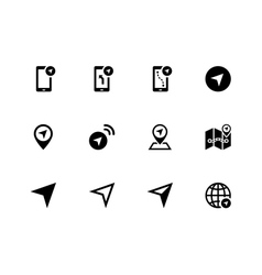 Navigator icons on white background vector image