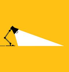 Night table office desktop lamp vector