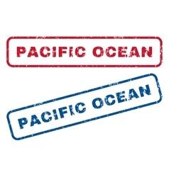 Pacific Ocean Rubber Stamps vector